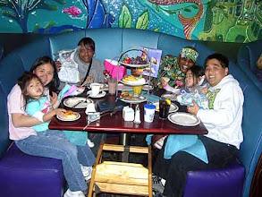 Photo: Lori and Mika, Mrs. and Mr. RainbowCliff, Faith and Garret at Ariel's Grotto, Disney California Adventure 3/02/2008 • Photo courtesy of RainbowCliff