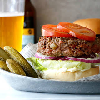 Hatched Green Chile Bison Burger.