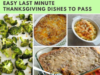 Easy Last Minute Thanksgiving Dishes to Pass