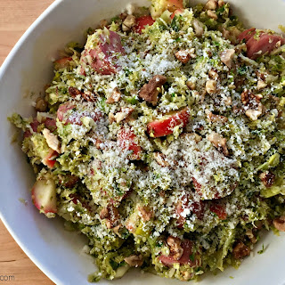 Warm Brussels Sprout Salad with Sausage, Apple & Walnuts Recipe