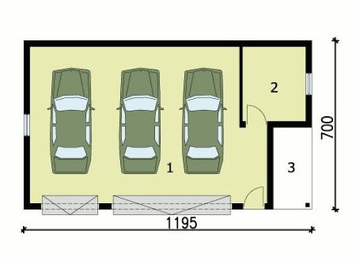 G156 - Rzut garażu