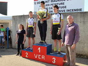 Photo: Le podium cadet.