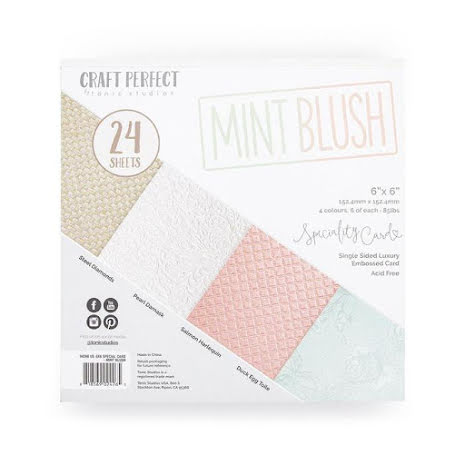 Tonic Studios Craft Perfect 6x6 Card Packs - Mint Blush 9426E