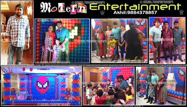 Photo: A Worldclass Balloon decorators in Chennai   Akhil : 9884378857 Modern Entertainment is a leading and skilled Balloon Decoration Management Company based out in Chennai, India. We see ourselves as an epitome of brilliance and Beauty. Chennai Balloon Decorators creates Brilliance at our outstanding innovations, design techniques and Beauty with our overall output. The Best Balloon decorators in Chennai  A Worldclass birthday party organiser in chennnai Akhil : 9884378857