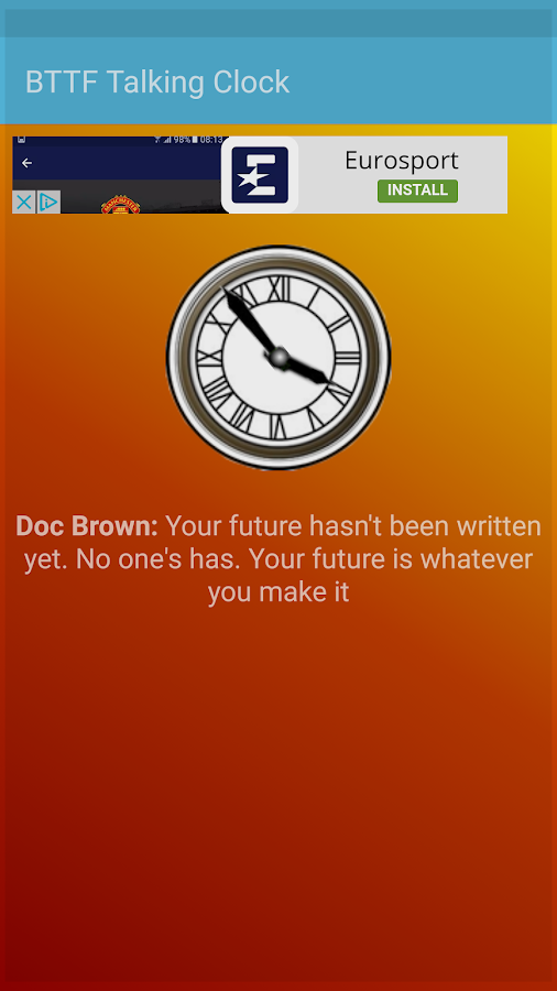 Back To The Future Clock- screenshot