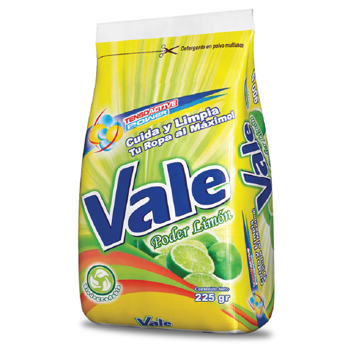 detergente en polvo vale limon 225gr
