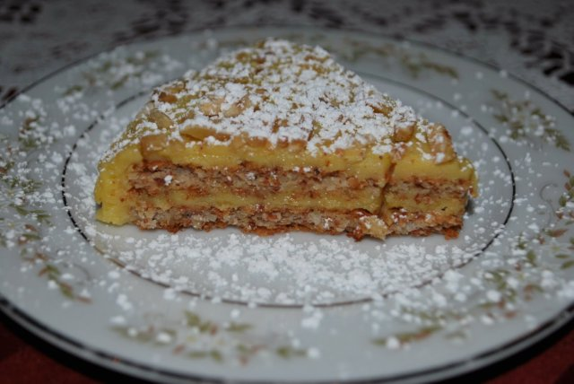 This is a photo of flourless almond strudel.