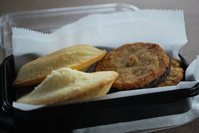 This is a photo of a small sample of cookies we bought at Mishi's Strudel Cafe for the ride home.