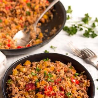 Cajun Dirty Rice (Gluten Free, Grain Free, Dairy Free, Whole30, Paleo, Vegan Options).