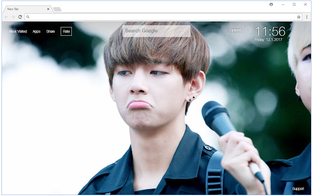 Kim Taehyung V Hd Wallpaper Bts New Tab Free Addons