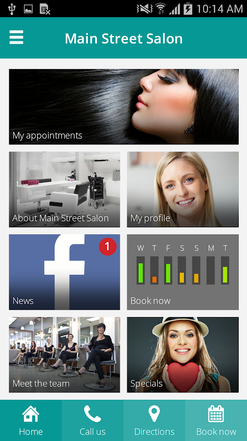 mySALONapp- screenshot