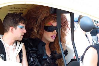 Photo: Pedicab customers, Gay Pride Day
