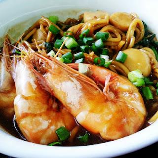 Foochow Braised Fried Noodles (Chao Zhu Mian).