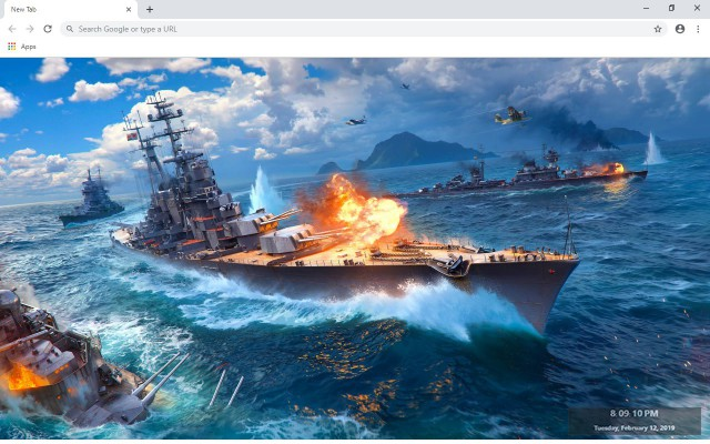 World of Warships New Tab Theme