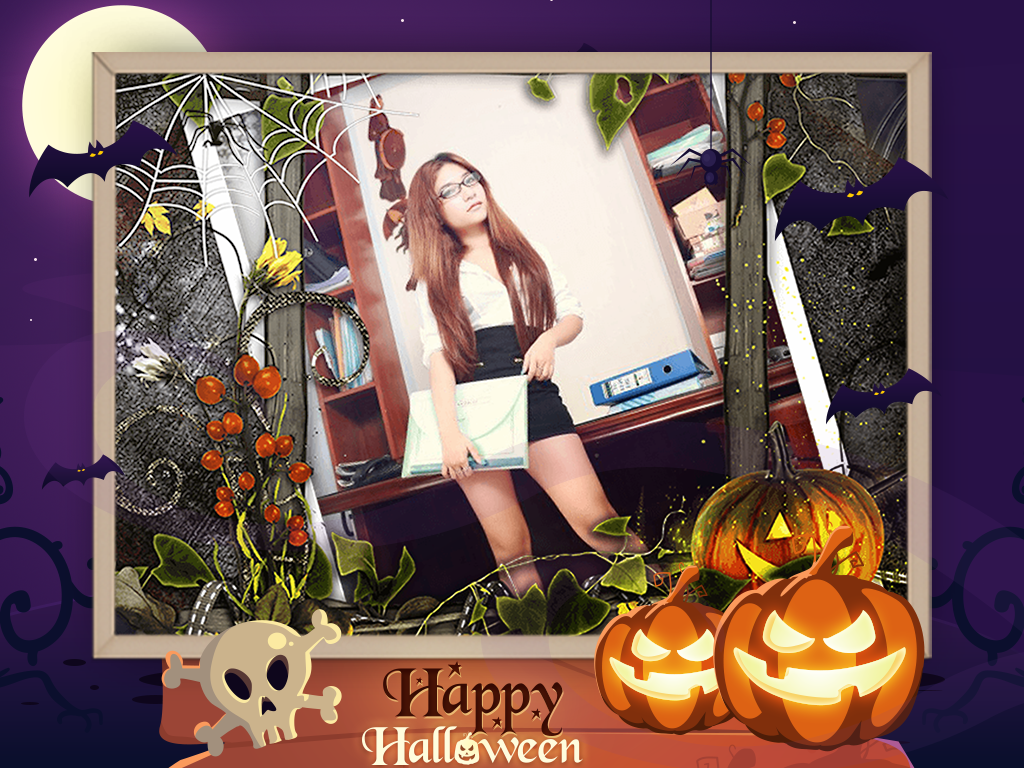 halloween photo frame android apps on google play
