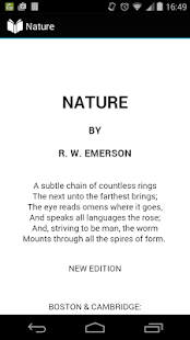 nature by emerson As he returned from europe in 1833, emerson had already begun to think about the book that would eventually be published under the title nature in writing natu.