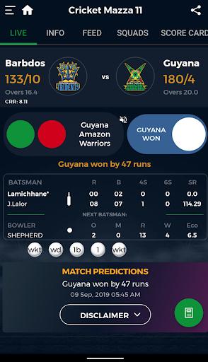 Cricket Mazza 11 Live Line & Fastest Score screenshot 4