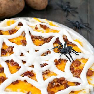 Spooky Loaded Mashed Potato Casserole