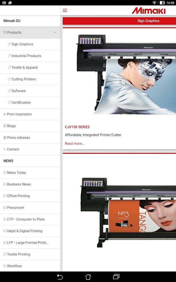 Print News by Mimaki- screenshot