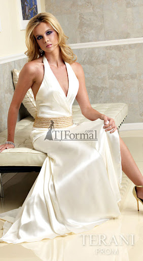 Beach Wedding Bridal Gown - Golden Empire Waist
