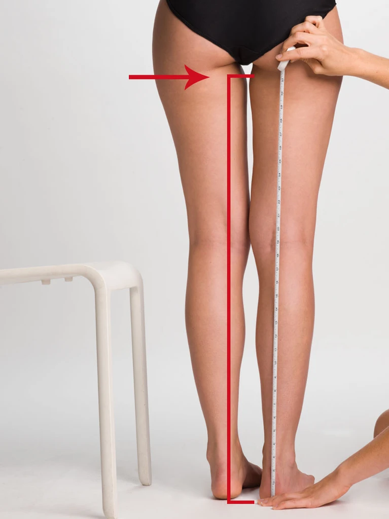 Measuring thigh length