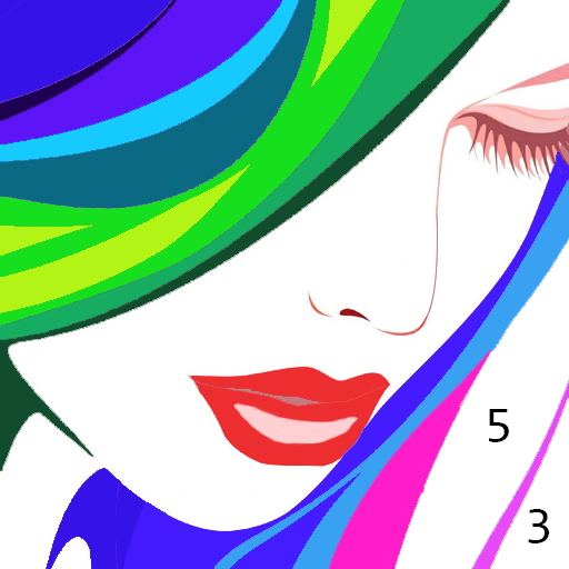 Color by Number - Happy Coloring Book Icon
