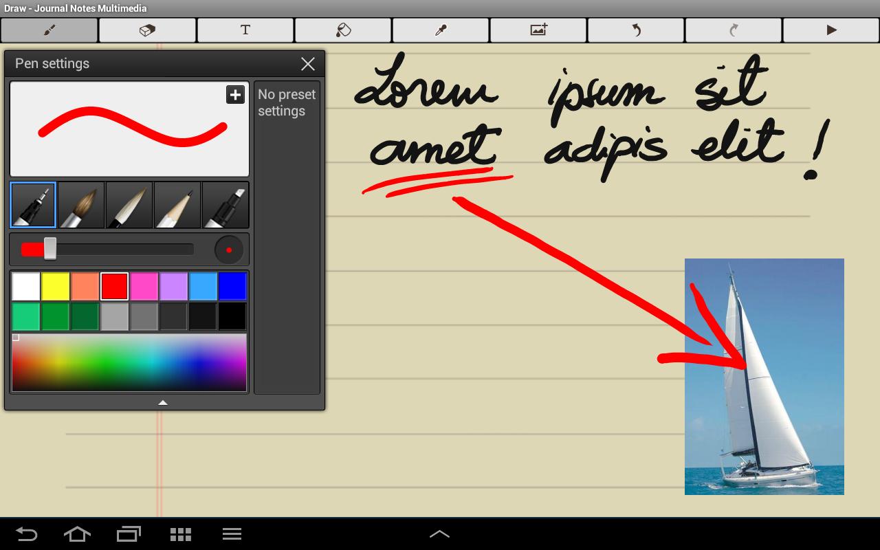 Journal Notes Multimedia- screenshot