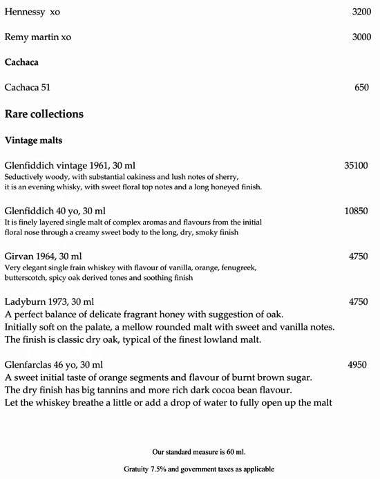 China Kitchen, Hyatt Regency menu 17