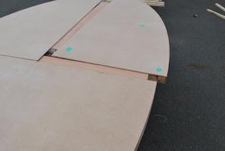 Photo: round honeycomb core table