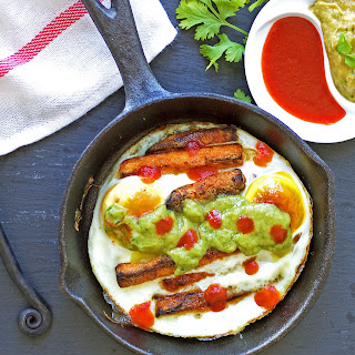 Sweet Potato Fry Breakfast Skillet with Avocado Mash