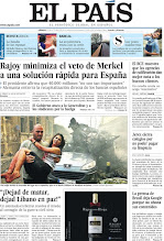 Photo: Rajoy minimiza el veto de Merkel a una solución rápida para España y un atentado en Beirut reaviva el miedo al contagio de la guerra civil siria, en portada de la edición nacional del sábado 20 de octubre de 2012 http://cort.as/2eEb