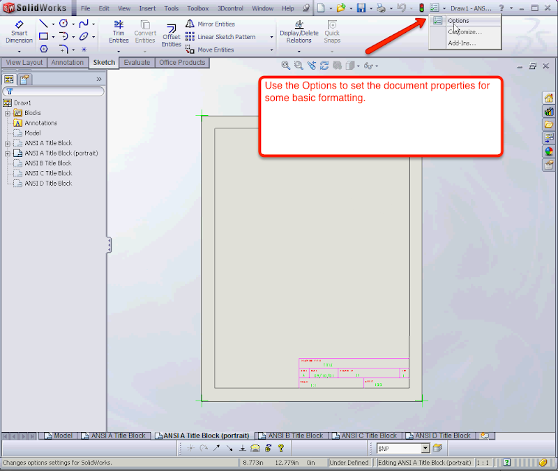 01-Convert DWG to Solidworks Drawing Template - Mechanical CAD
