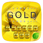 Pure Gold GO Keyboard Theme