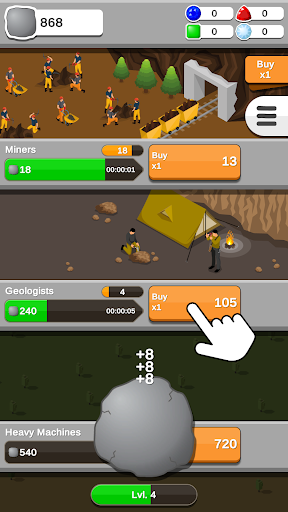 Rock Collector - Idle Clicker Game 2.0.3 screenshots 2