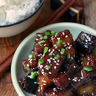 Teriyaki Glazed Pork Belly Recipe with Jasmine Rice