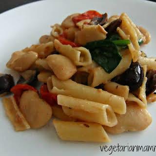 White Bean and Olive Pasta – #glutenfree #vegan.