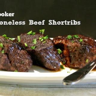 Slow Cooker Boneless Beef Short Ribs.