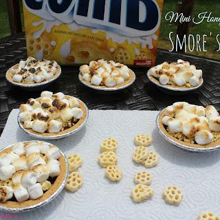 Mini Honeycomb Smore's Pie.
