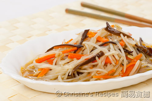 Stir Fried Bean Sprouts, Carrots & Wood Ear Fungus02