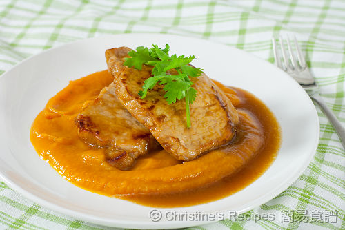 薑檸豬扒配南瓜泥 Pork Chops with Ginger & Lemon Sauce on Pumpkin Puree02