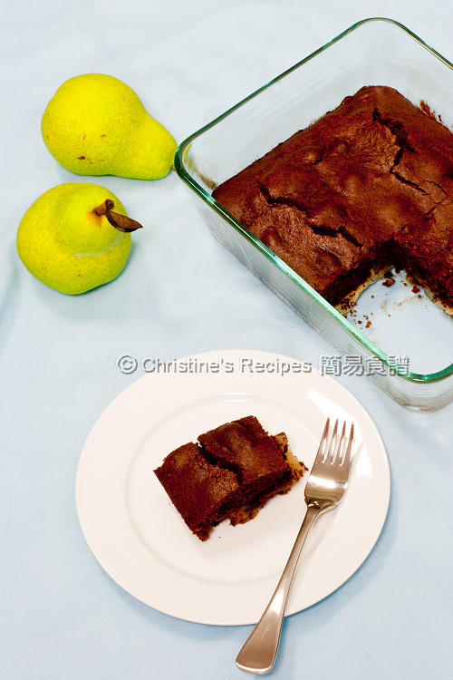 Chocolate Pear Pudding01