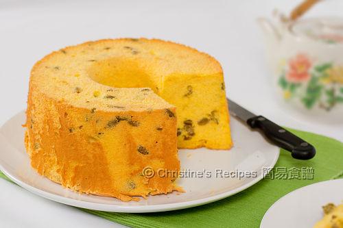 Pumpkin chiffon cake recipe