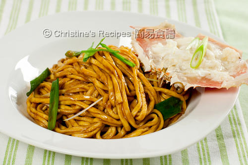 Crab Meat E-Fu Noodles in Oyster Sauce02