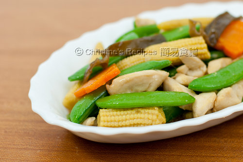 Stir Fried Sugar Snap Peas with chicken01