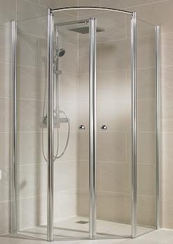 Paroi de douche pentagonale Prisma Lux II, jusqu'à 120 cm