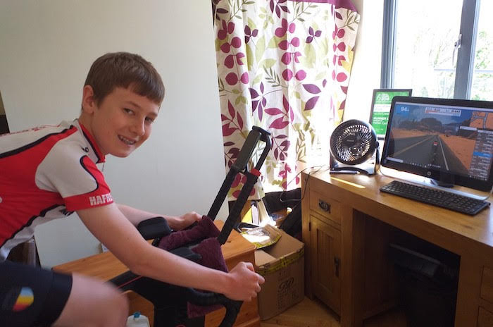 Max raises cash for NHS with virtual cycle ride