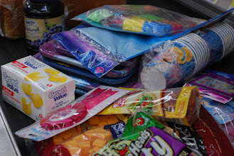 Photo: Ready to check out....the cashier could tell we were having a party!
