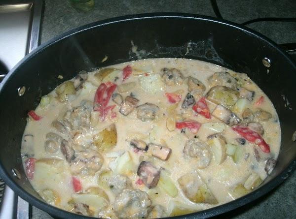 Cheesy Bratwurst Stew Recipe