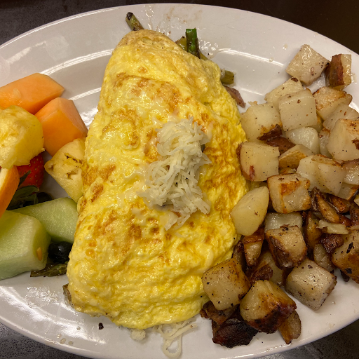 Mushrooms, Asparagus and Swiss Omelette