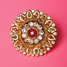 Photo: BLING RING Travels in India inspired Sheena Sood '06 to design a line of ornate costume jewelry including this mandala ring.  $28. Use code Brown20 for 20% off. abacaxi-nyc.com